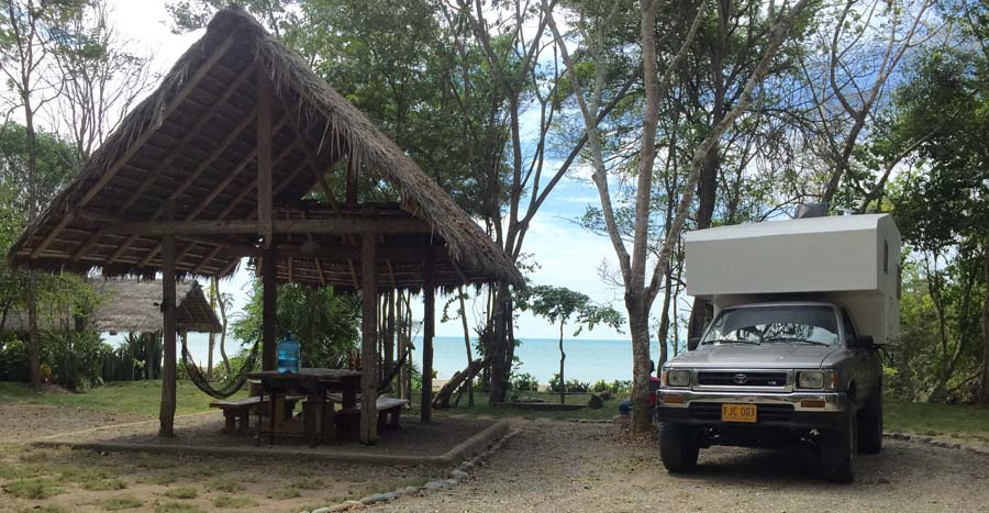 Camping at Playa Escondida