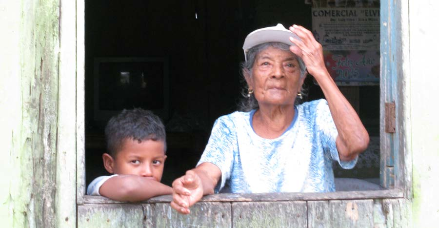 Doña Ricardina and grandson