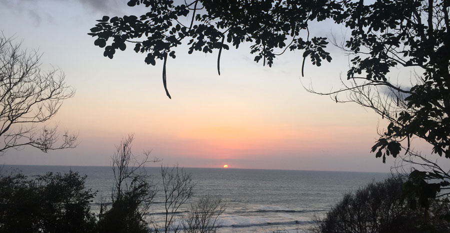 sunset at Canoa, Ecuador
