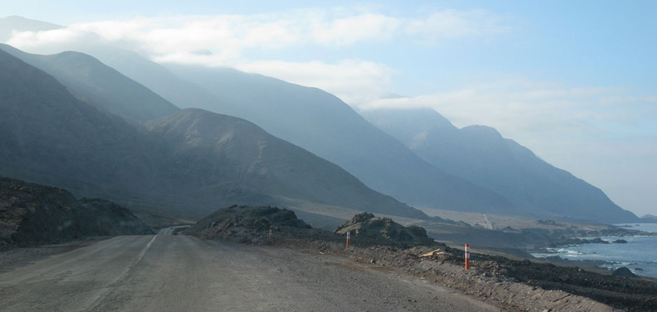 coast road at Tocopilla, Chile