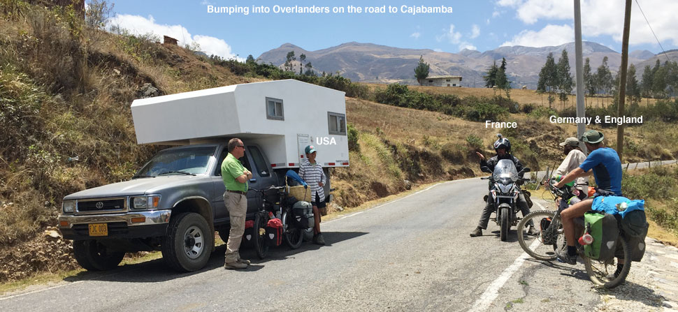 Overlanders meeting on the road