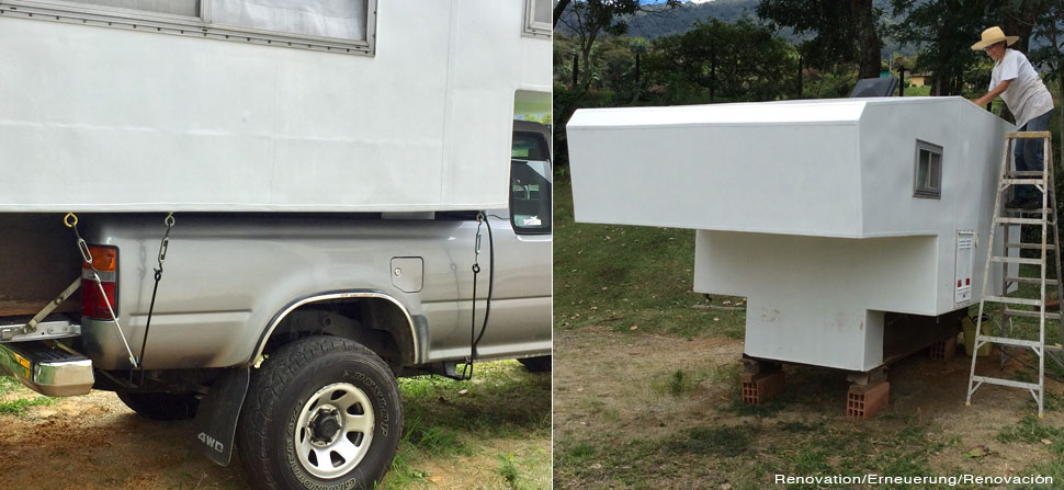 renovation camper and Toyota