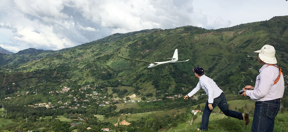 rc glider launch